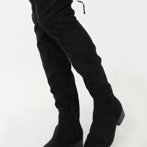 F21 thigh high over the knee faux suede boots